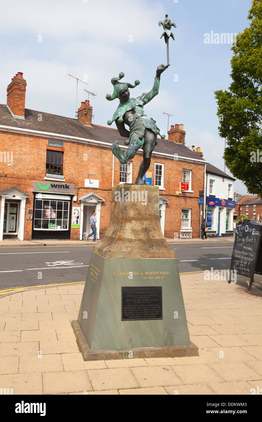 The Jester statue by James Butler RA Stratford-upon-Avon - Stock Image