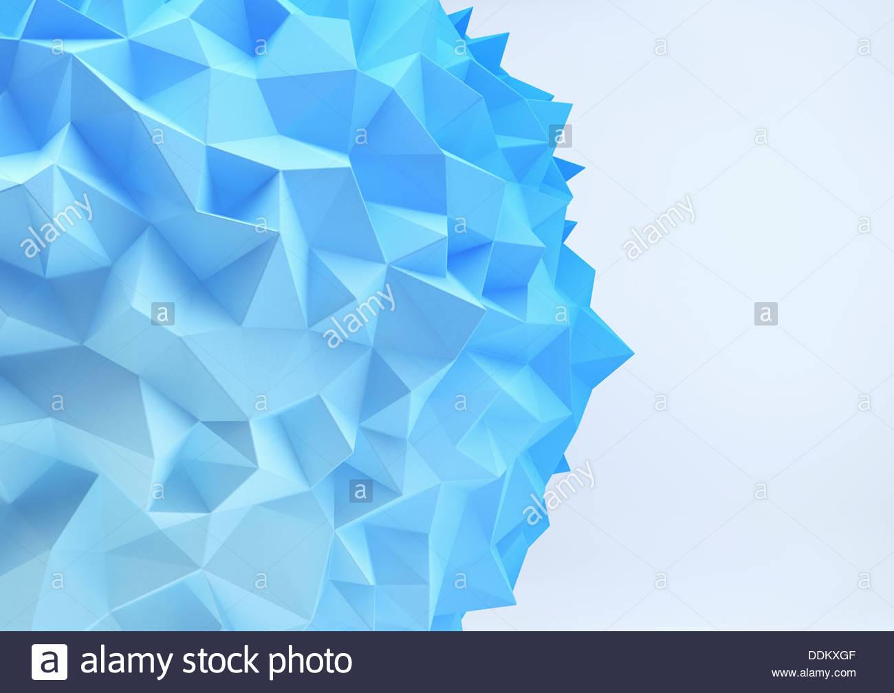 Close up of blue geometric polygon pattern Stock Photo