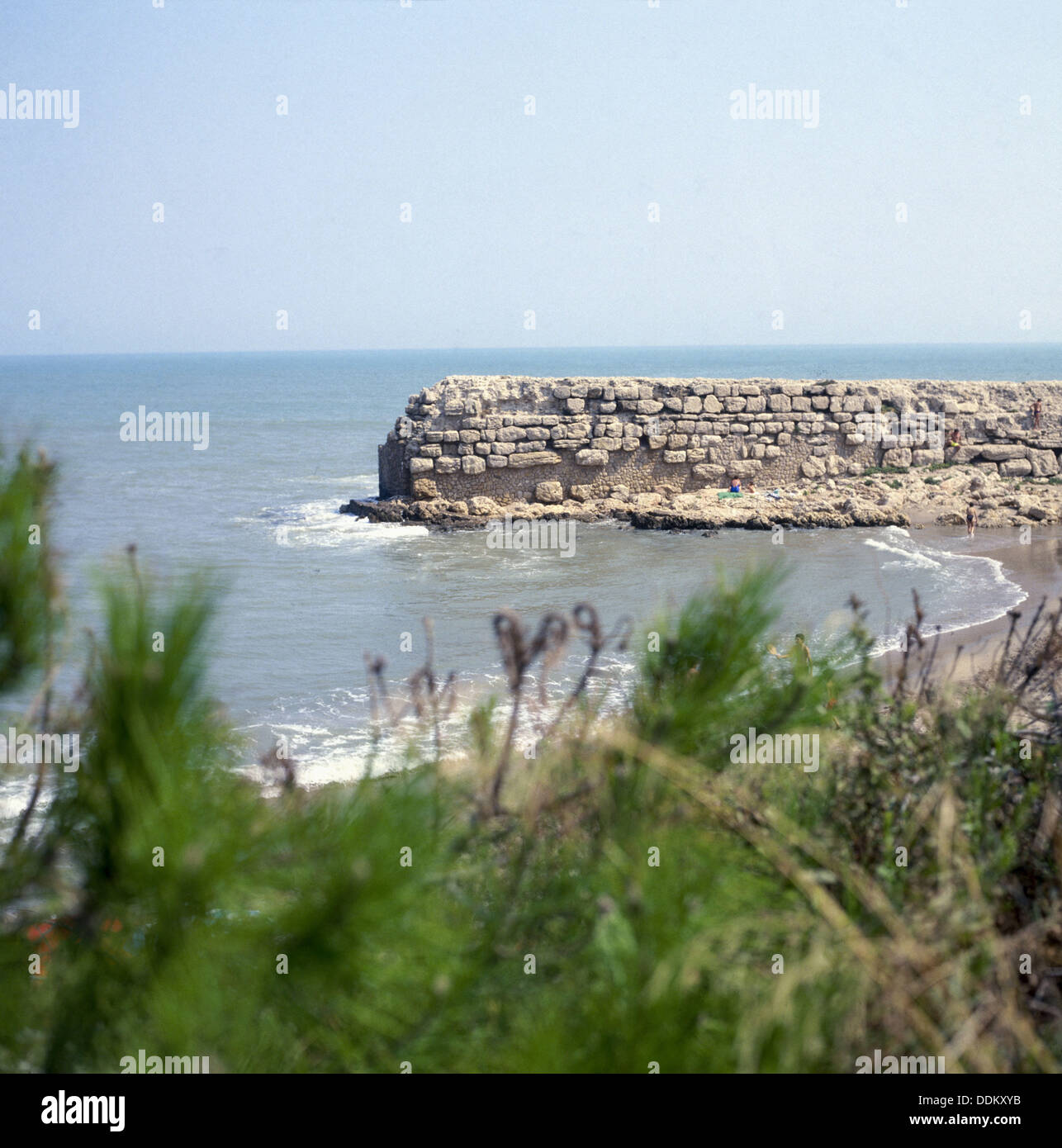 Ruins of the Roman dock (2nd Century BC). Ampurias. Girona province. Spain - Stock Image