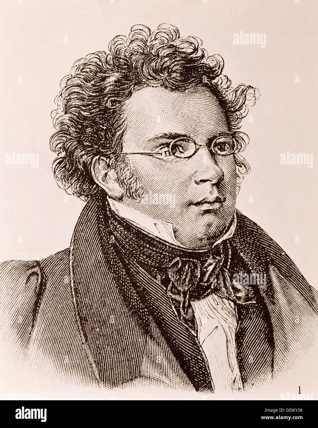 Franz Schubert (1797-1828), Austrian composer Stock Photo