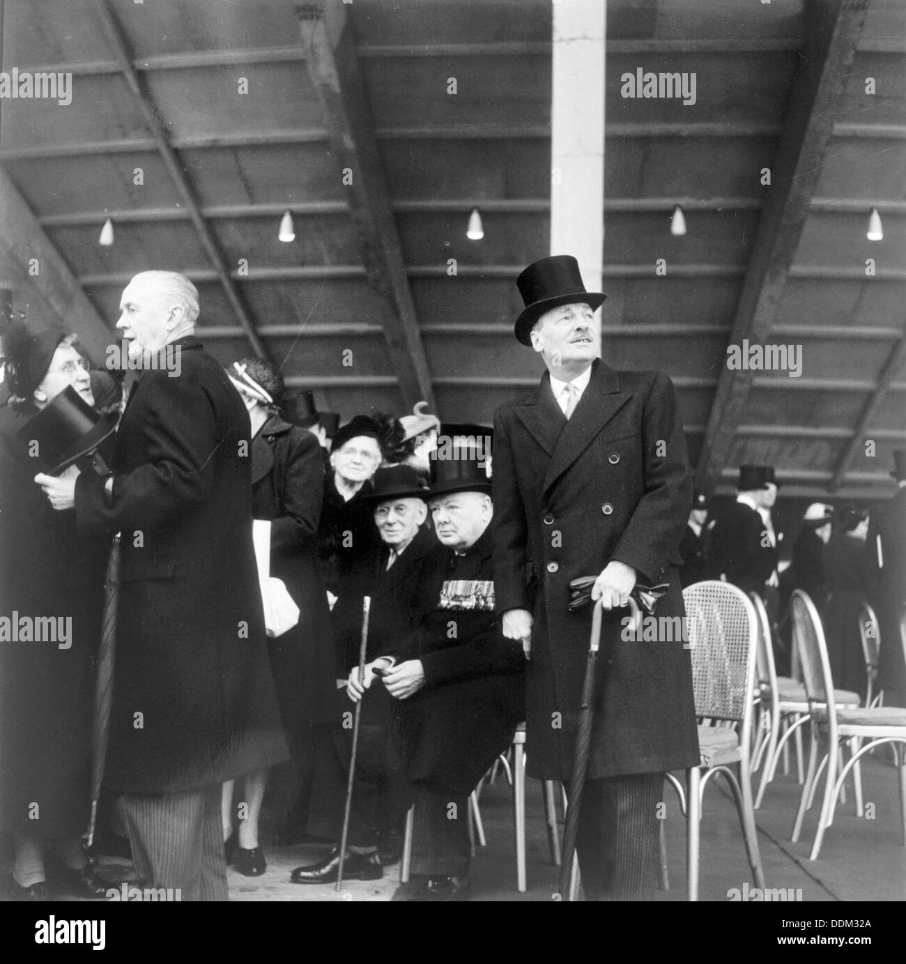 Winston Churchill at the opening of the Festival of Britain, London, 1951. Artist: Henry Grant - Stock Image