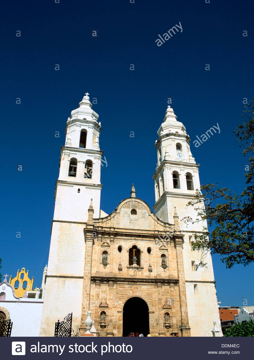 Cathedral of the Immaculate Conception, Campeche, Mexico. Artist: Dr Stephen Coyne - Stock Image