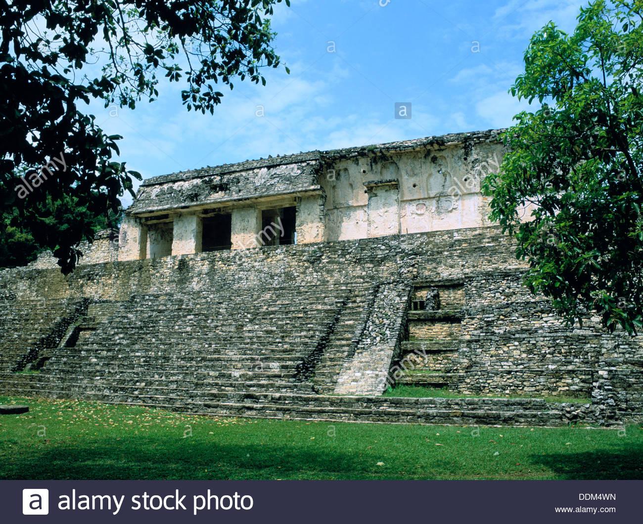 Palace, Palenque, Chiapas, Mexico. Artist: Dr Stephen Coyne - Stock Image