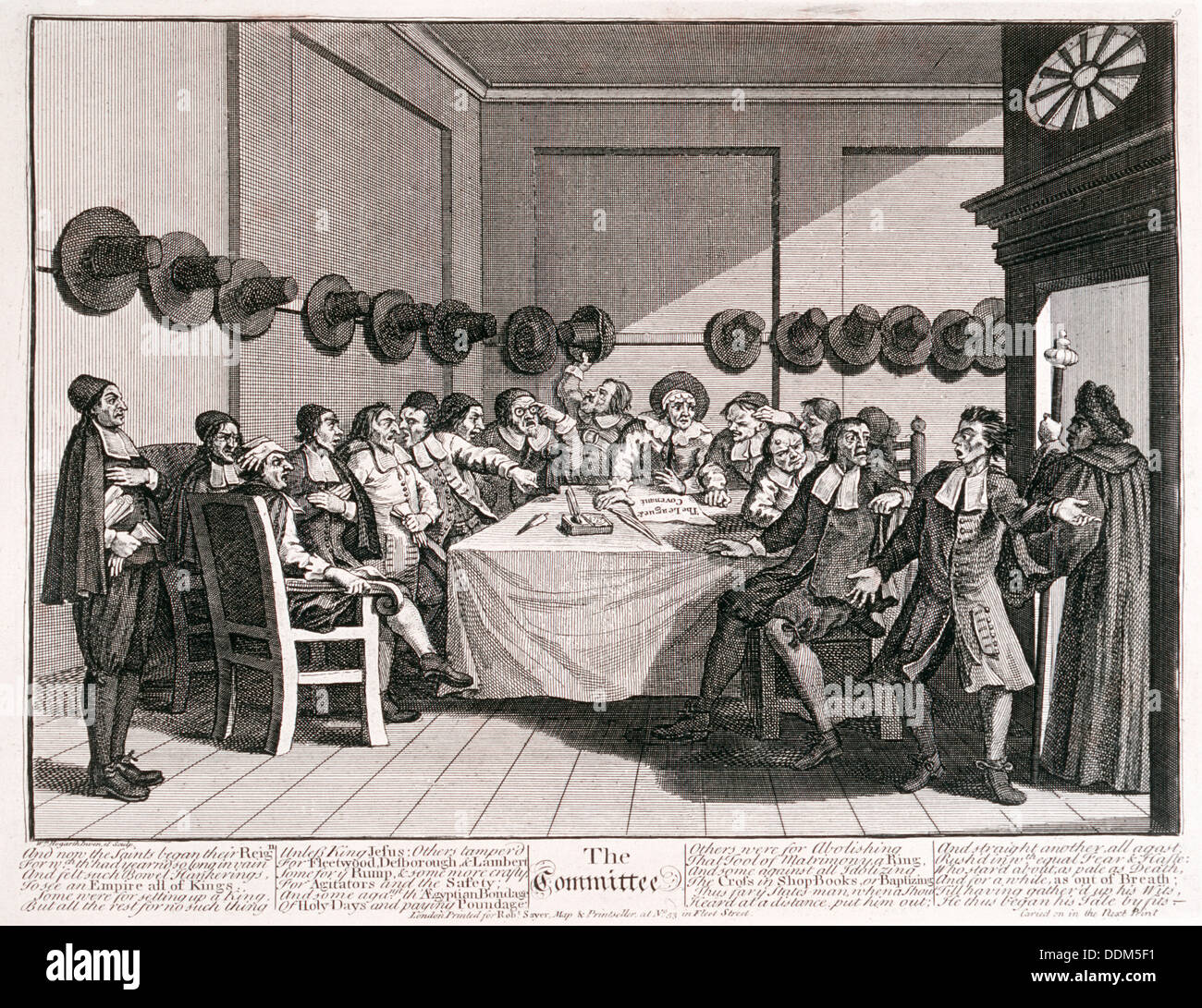 'The Committee', 18th century. Artist: William Hogarth Stock Photo