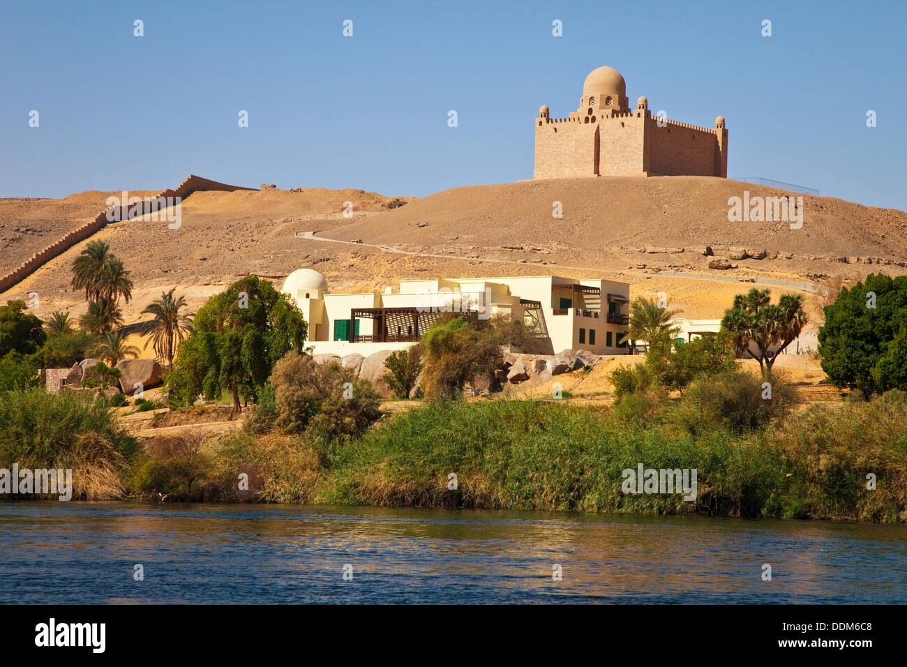 Mausoleum Of Agha Khan Aswan Nile Valley Egypt Stock Photo Alamy