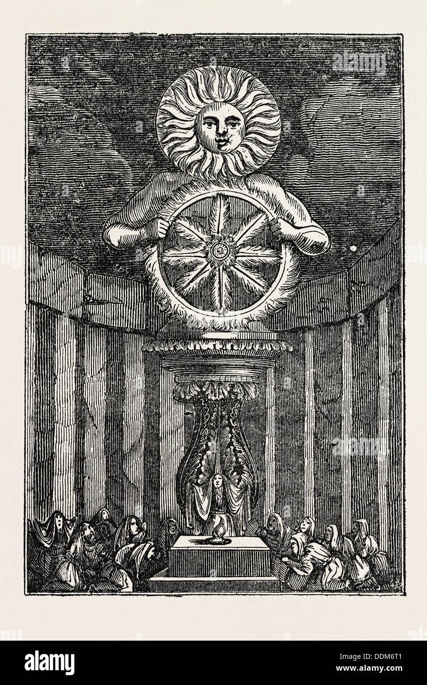THE IDOL OF THE SUN, A SAXON IDOL - Stock Image