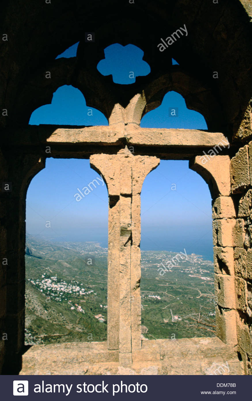 Window, St Hilarion Castle, Cyprus. Artist: Dr Stephen Coyne - Stock Image