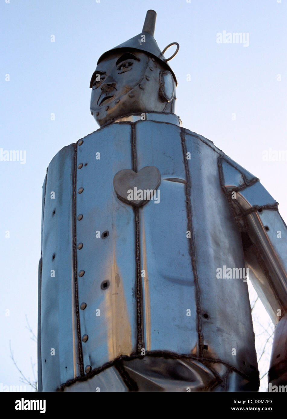 Tin Man, Chicago, Illinois, USA. Artist: SR Edmondson - Stock Image