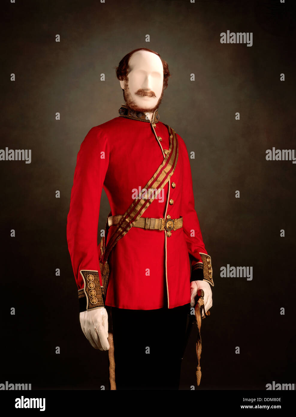 Uniform worn by Prince Albert as Colonel of the Grenadier Guards, 1857. - Stock Image