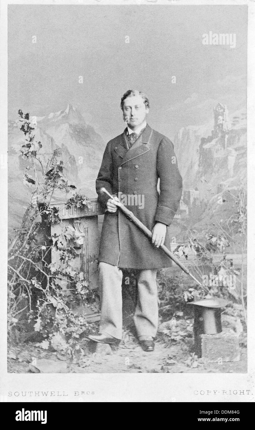 The Prince of Wales (later King Edward VII) in 1863. - Stock Image