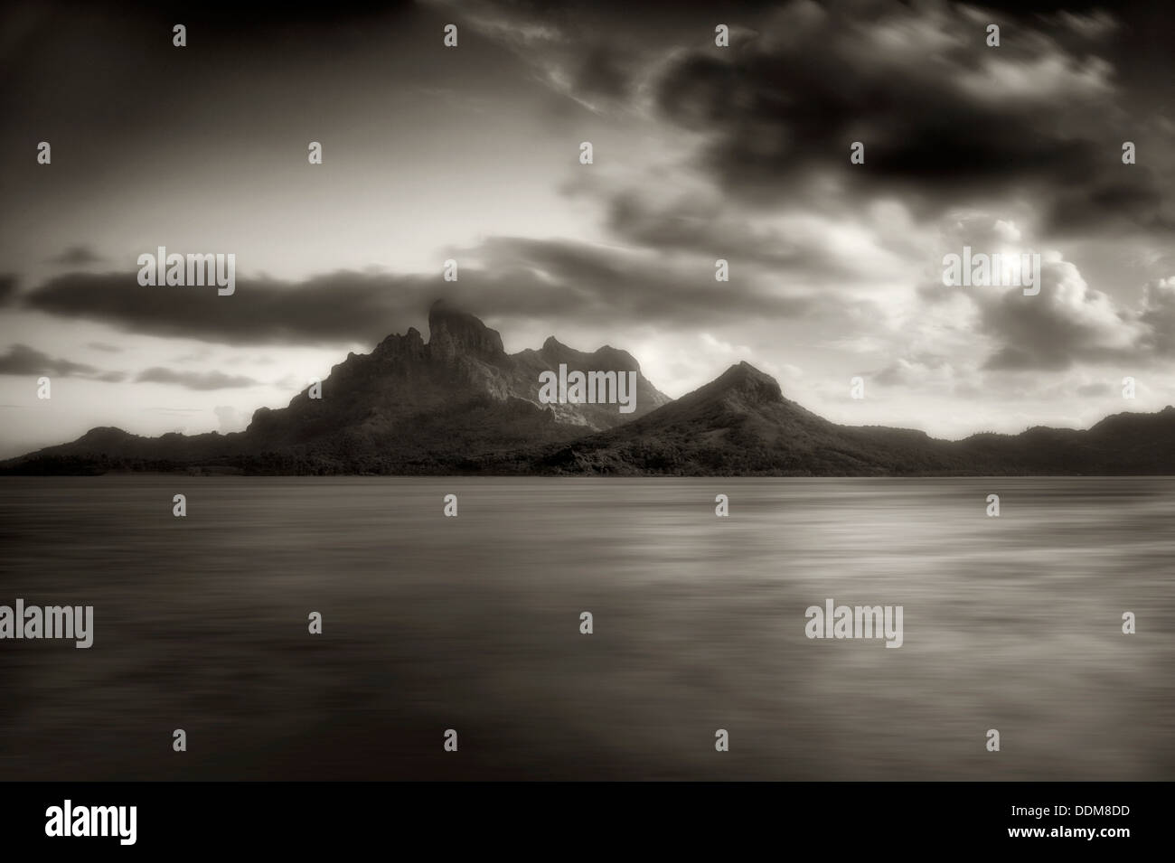 Mt. Otemanu at sunset. Bora Bora. French Polynesia. - Stock Image