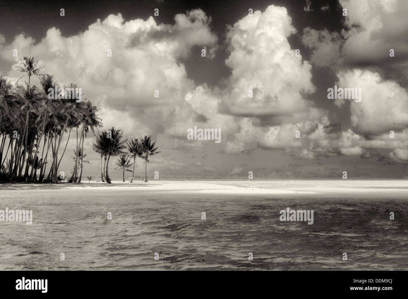 Small island in Bora Bora. French Polynesia - Stock Image