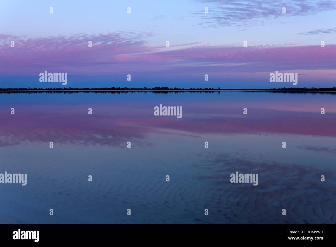 Lake Ninan Salt Lake, Victoria Plains  Western Australia Stock Photo