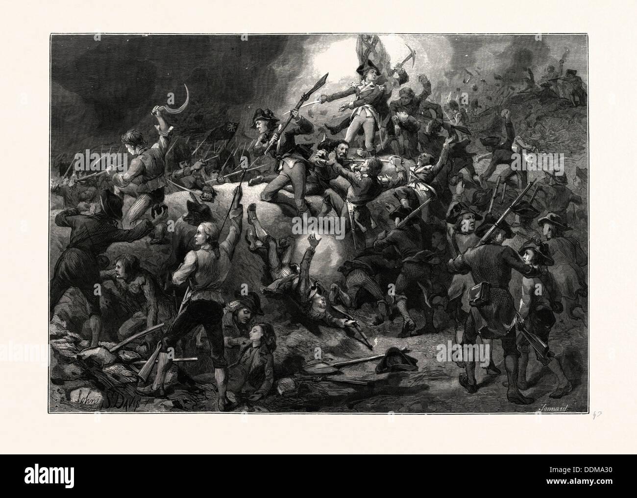 THE BATTLE OF BUNKER HILL, JUNE 17, 1775. JOHN S. DAVIS - Stock Image