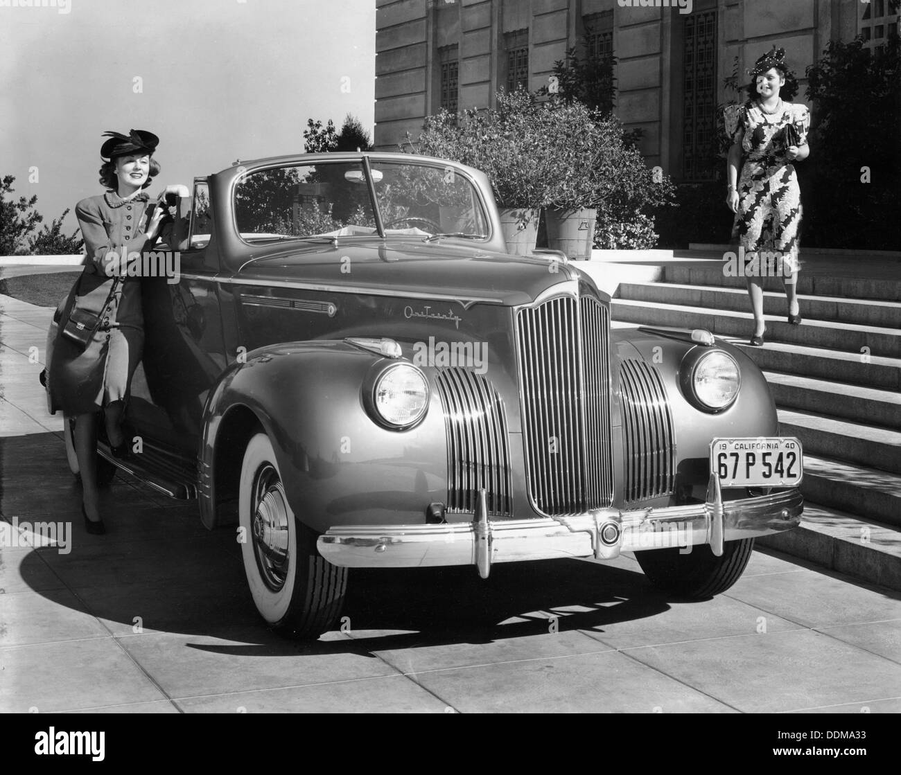 1941 Packard 120 convertible coupe, (c1941?). - Stock Image