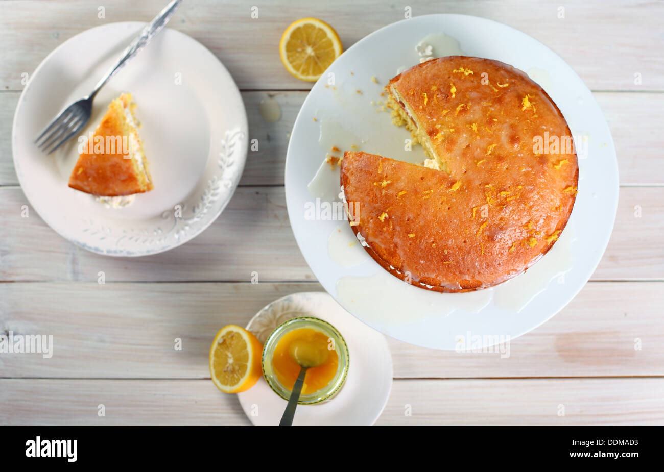 Lemon cake - Stock Image