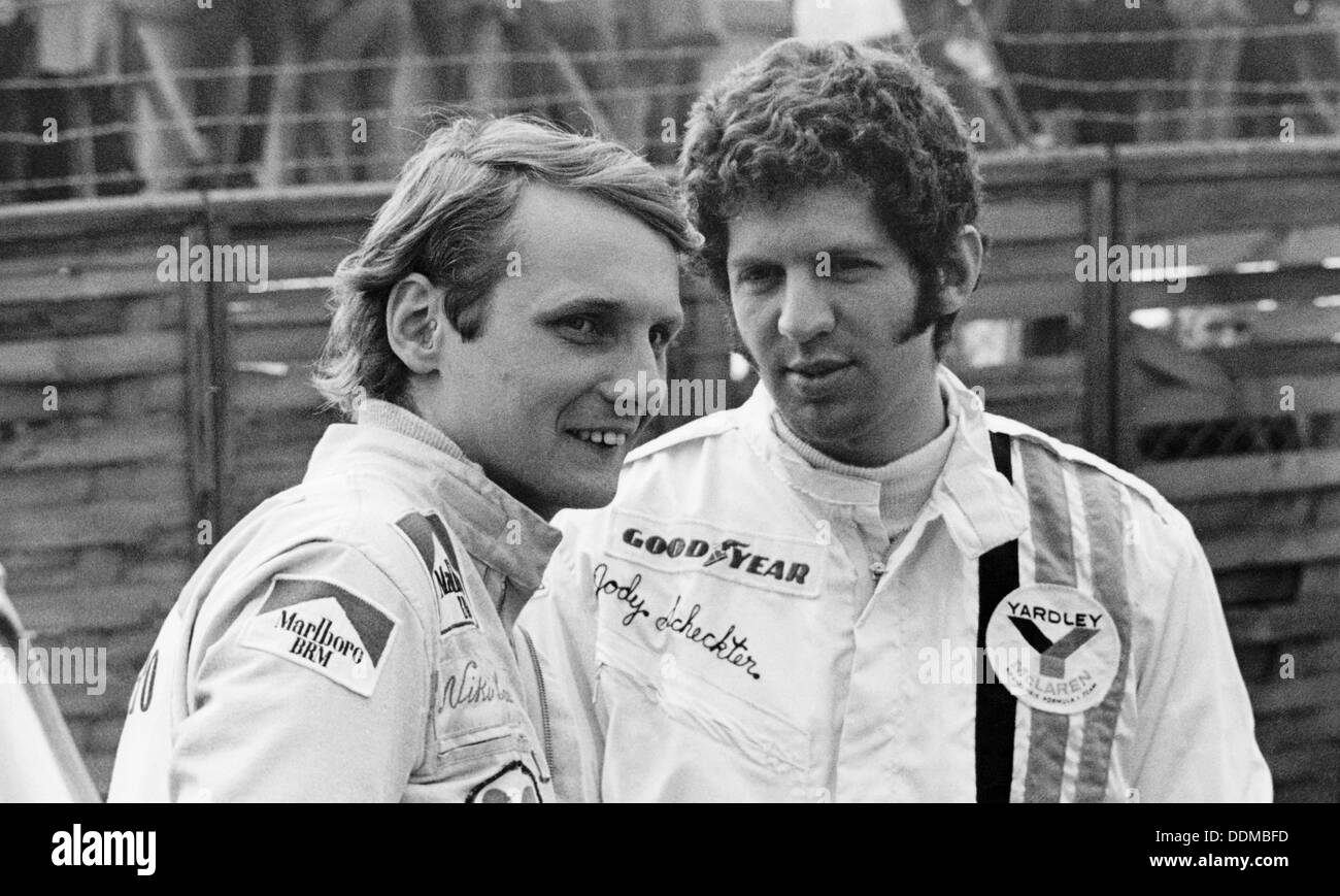 Niki Lauda and Jody Schekter, Race of Champions, Brands Hatch, Kent, 1973. - Stock Image
