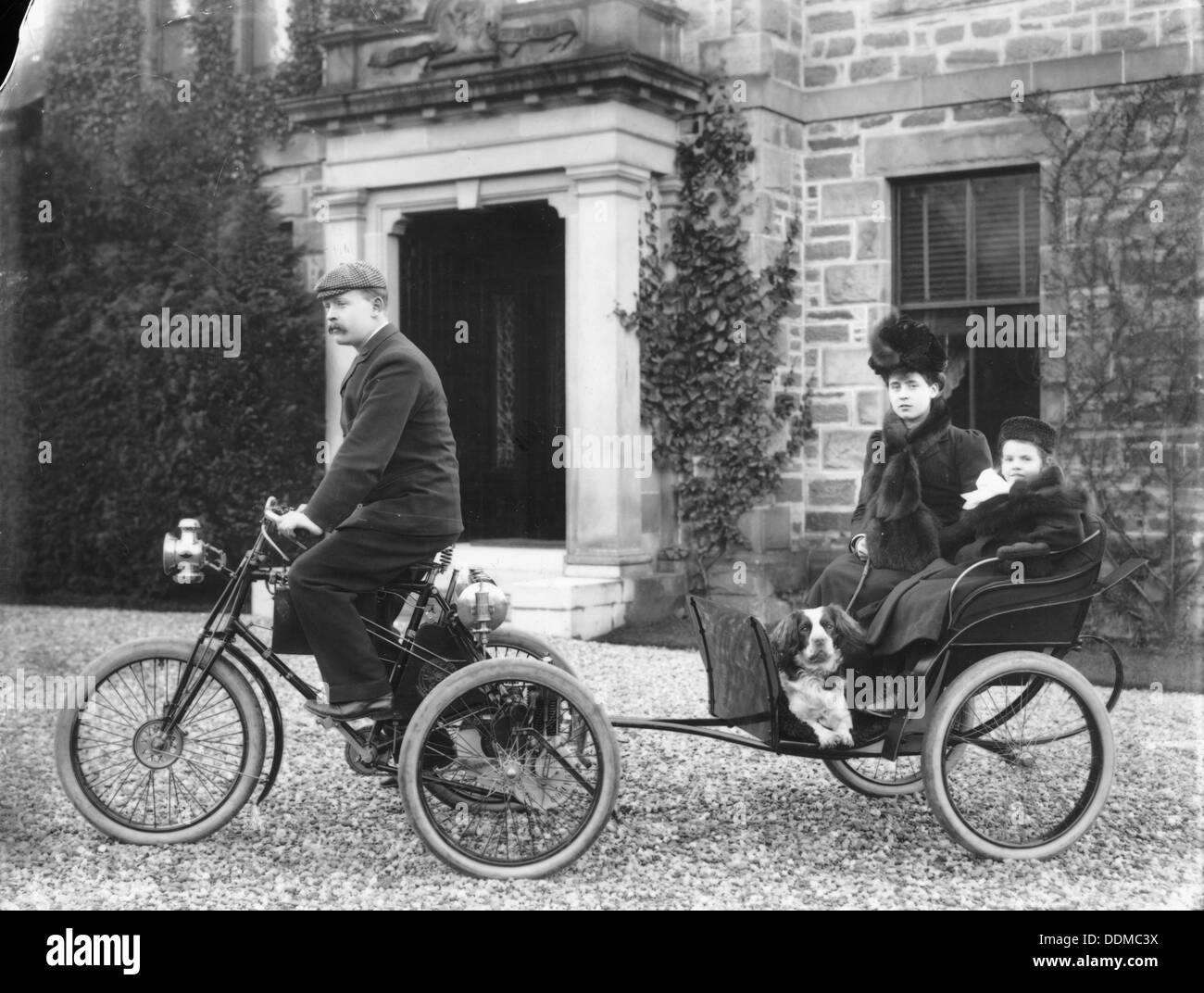 A De Dion tricycle. - Stock Image