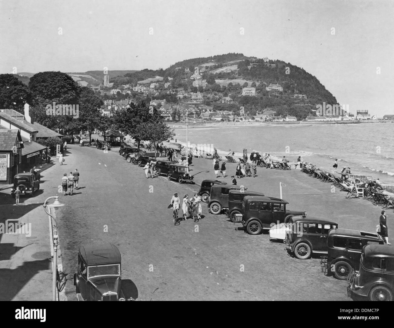 Seaside resort of Minehead, Somerset, early 1930s. - Stock Image