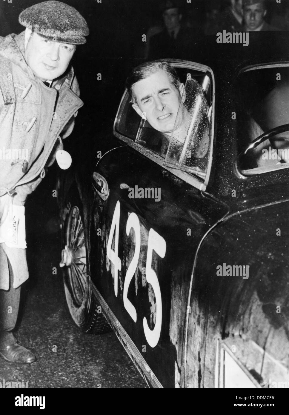 Tommy Wisdom, winner of the Grand Turismo Class of the Mille Miglia, 1951. - Stock Image