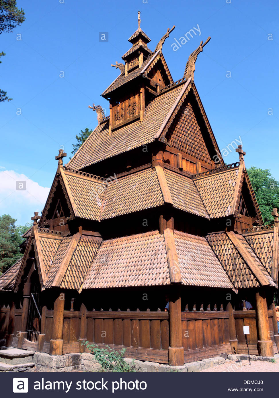 Gol Stave Church, folk museum, Oslo, Norway. Artist: Dr Stephen Coyne - Stock Image