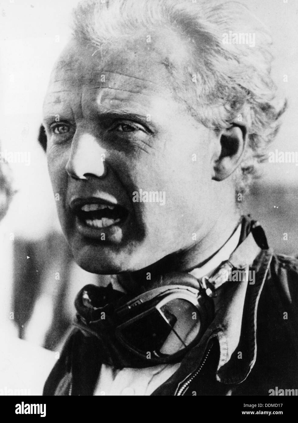 Mike Hawthorn, racing driver, mid-1950s. - Stock Image