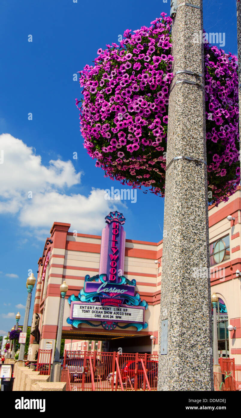 Hollywood Casino in downtown Aurora, Illinois along the Lincoln Highway - Stock Image