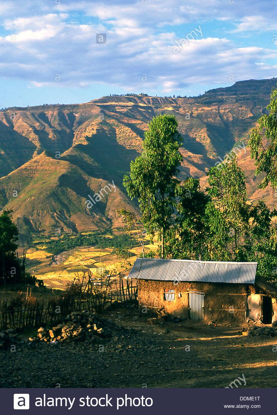 Lalibela, Ethiopia. Artist: Jacob Lyell - Stock Image