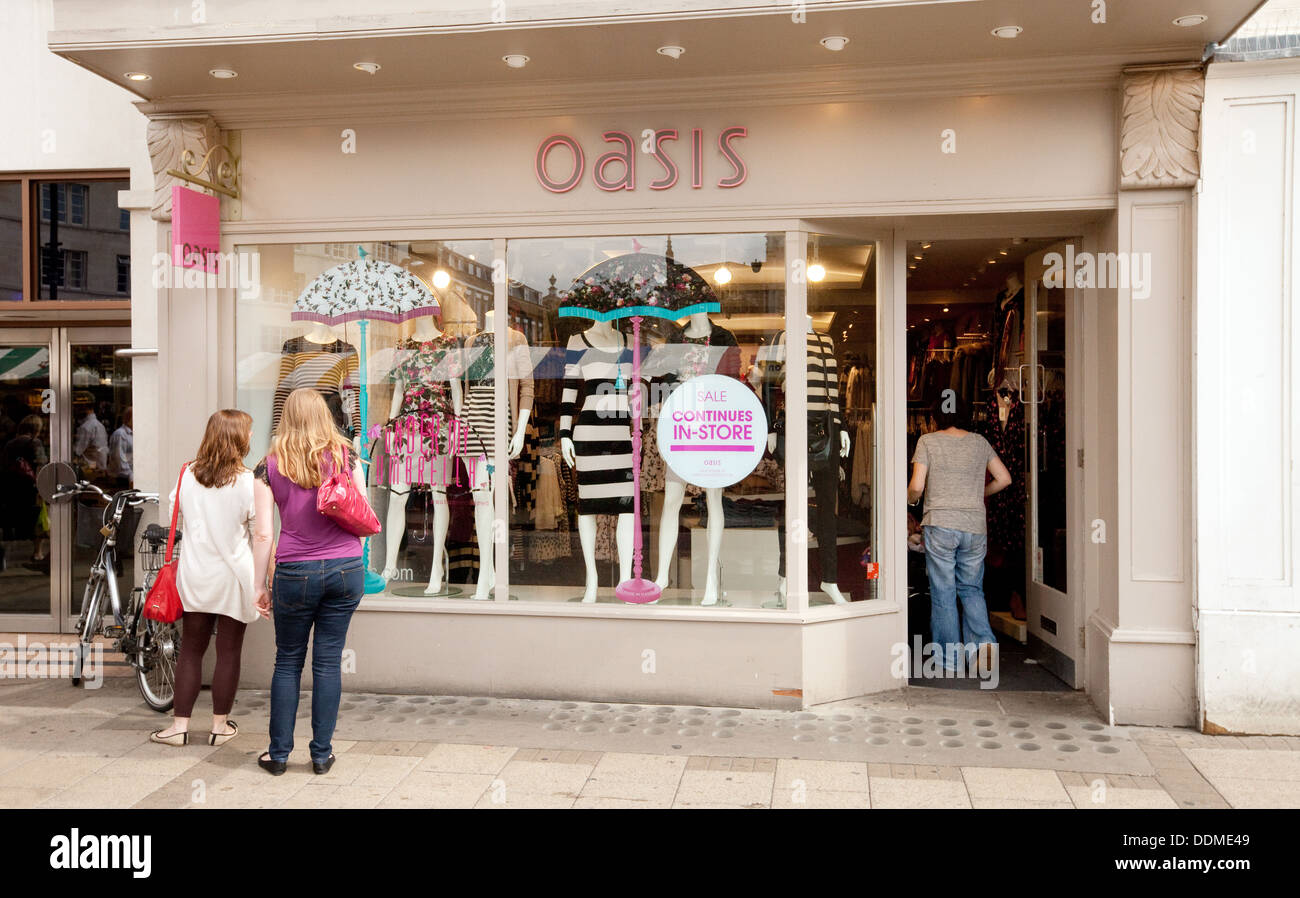 Oasis clothing store