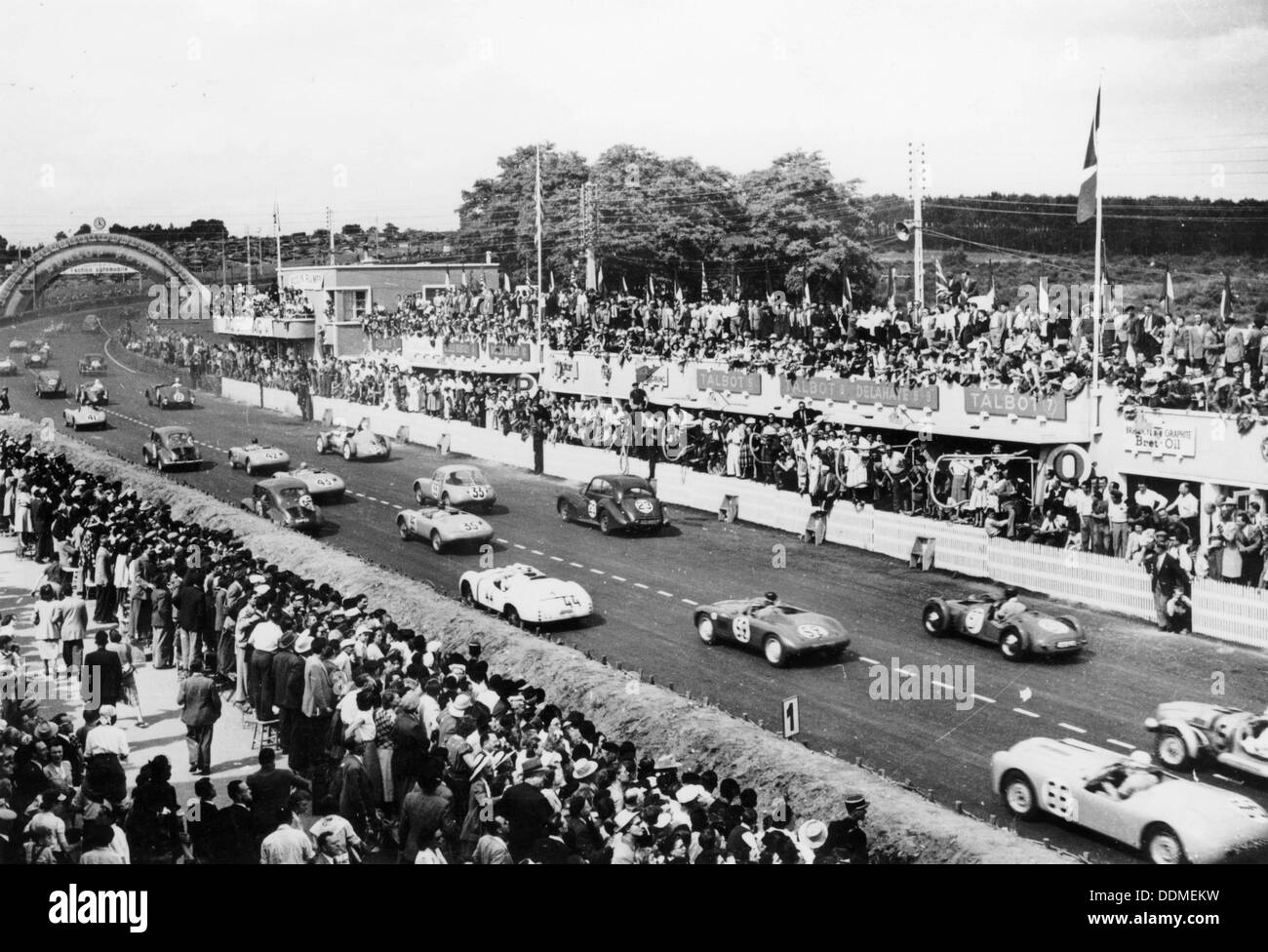 Start of the Le Mans 24 Hours, 1950. - Stock Image
