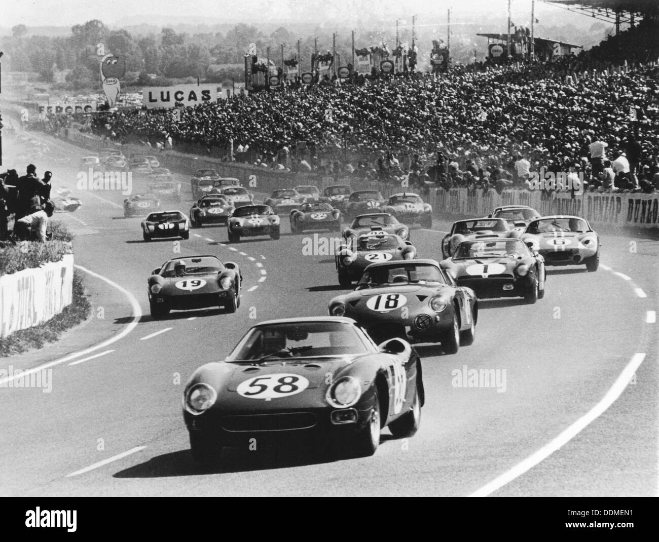 Start of the Le Mans 24 Hours, France, 1964. - Stock Image