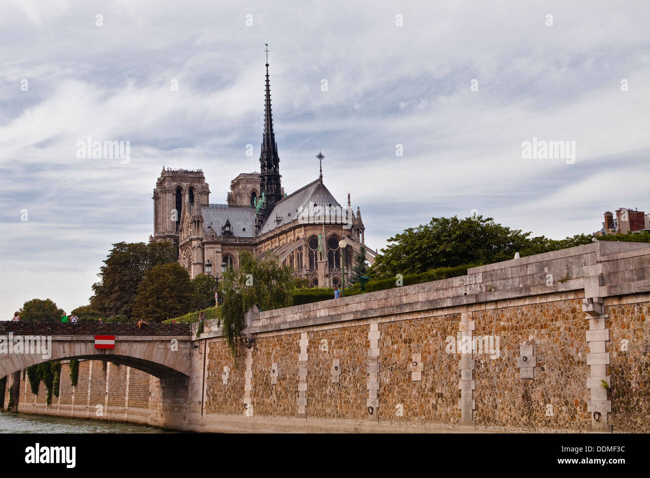 Notre Dame de Paris cathedral in France. - Stock Image