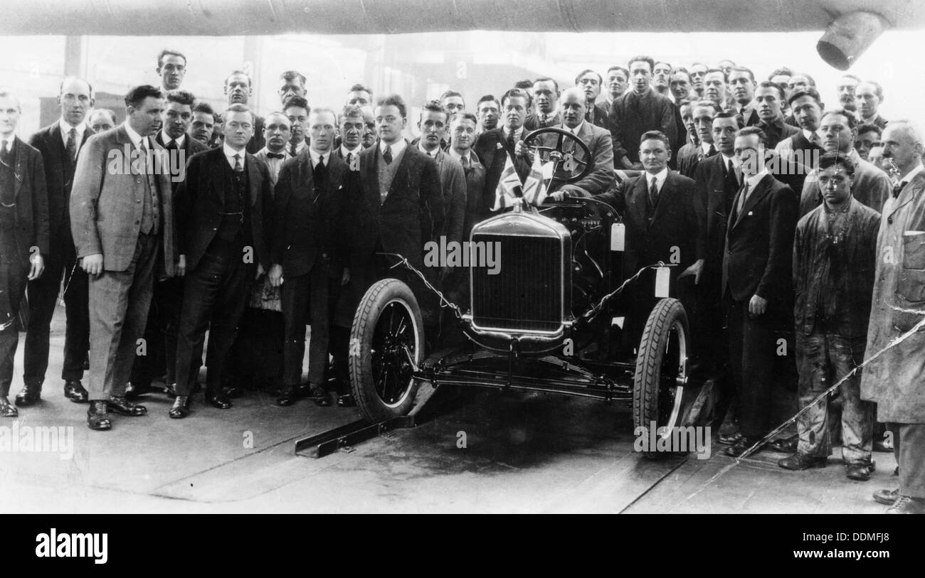 250,000th Model T Ford produced at Manchester, 1925. - Stock Image