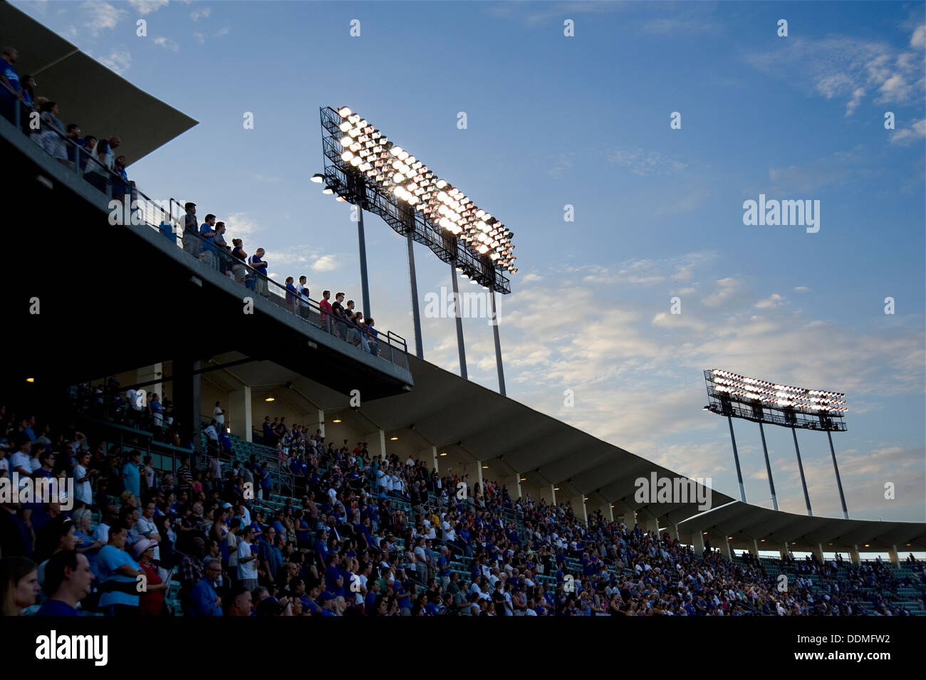 Crowd at a sporting event - Stock Image