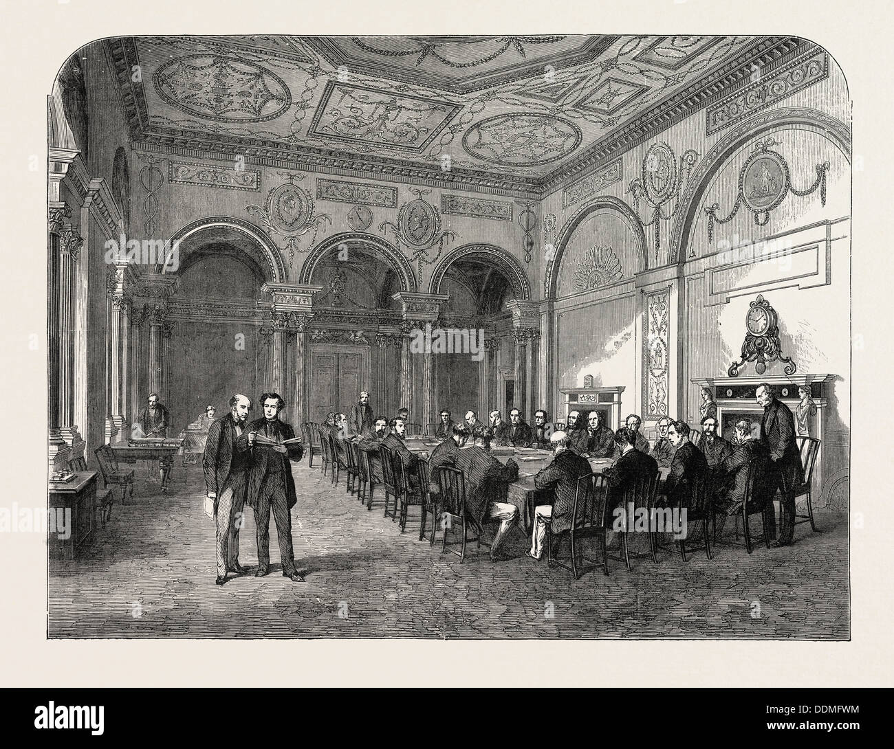 THE BANK OF ENGLAND: THE BANK PARLOUR, UK - Stock Image