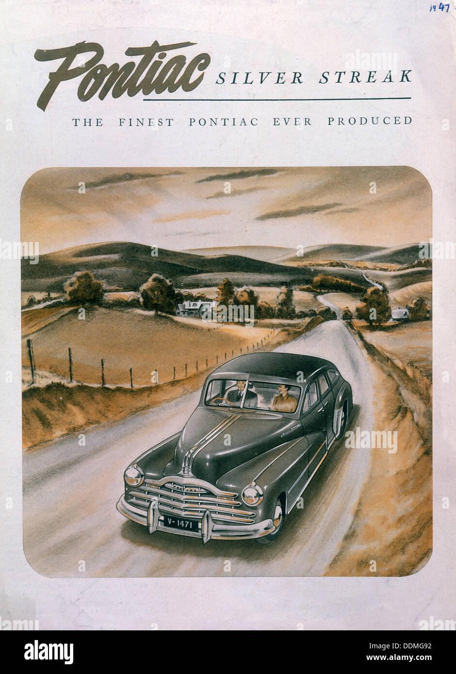 Pontiac Silver Streak Stock Photos 1941 Coupe Poster Advertising A 1947 Image