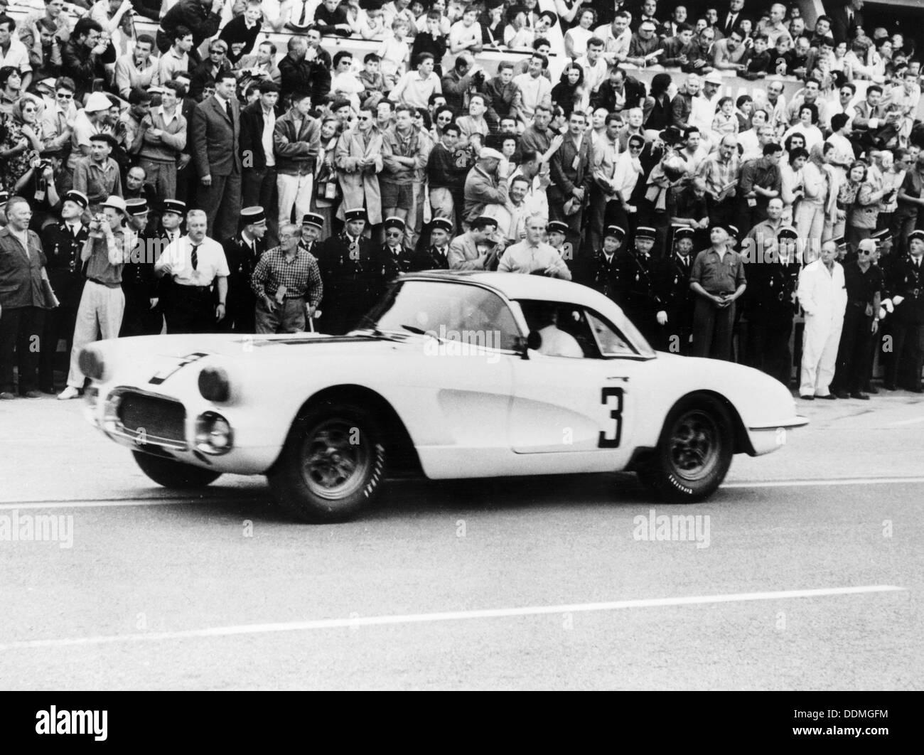Chevrolet Corvette, Le Mans, France, 1960. - Stock Image