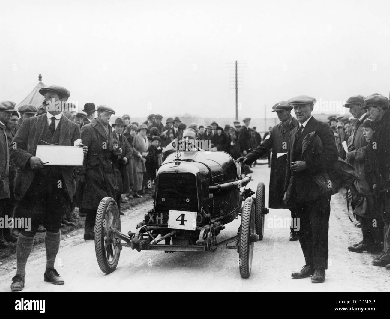 Aston Martin at a motor racing event, 1922. - Stock Image