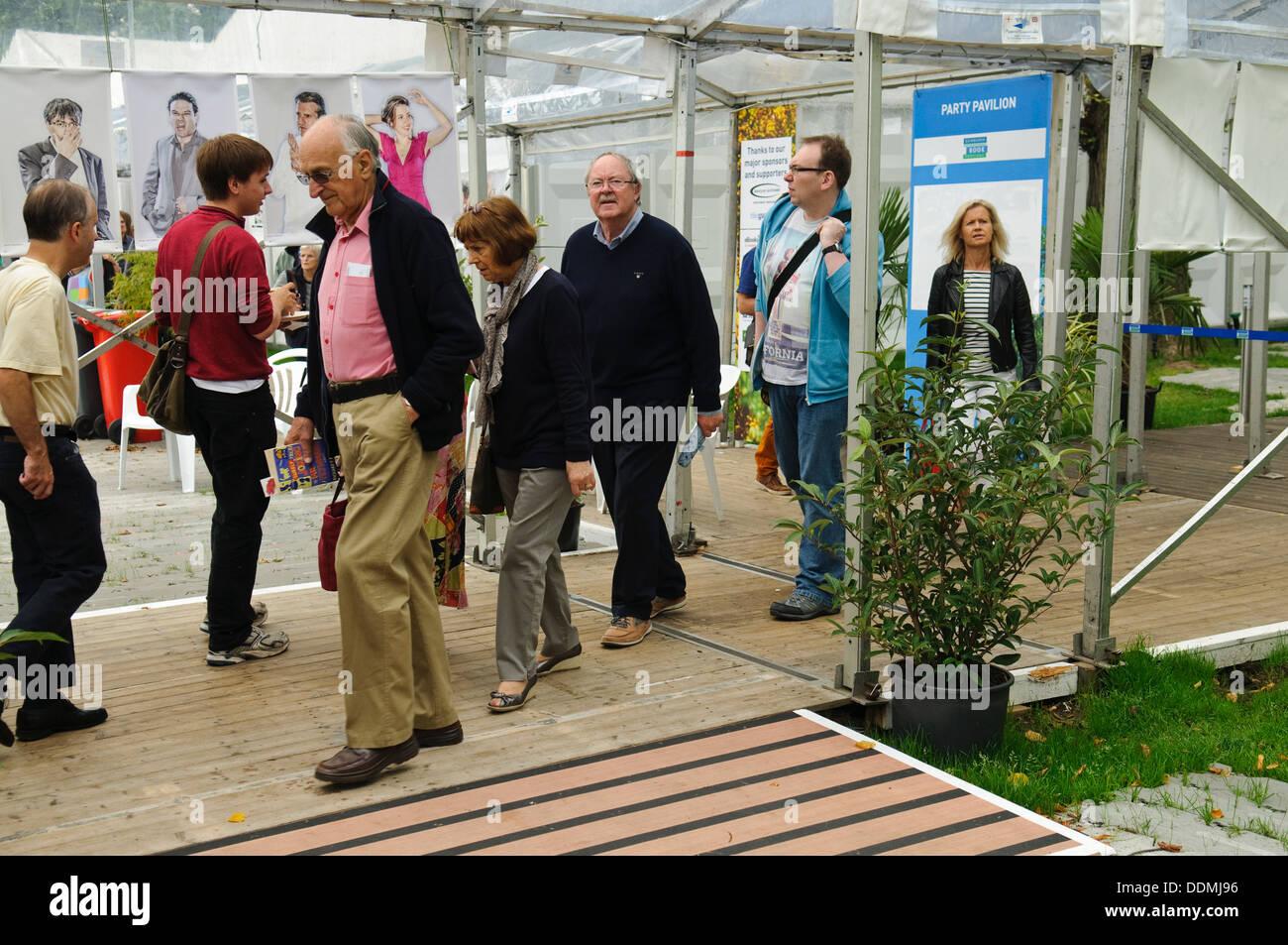 Queues at the Edinburgh International Book Festival. - Stock Image