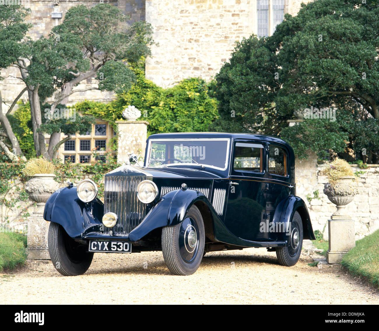 A 1935 Rolls-Royce 20/25. - Stock Image