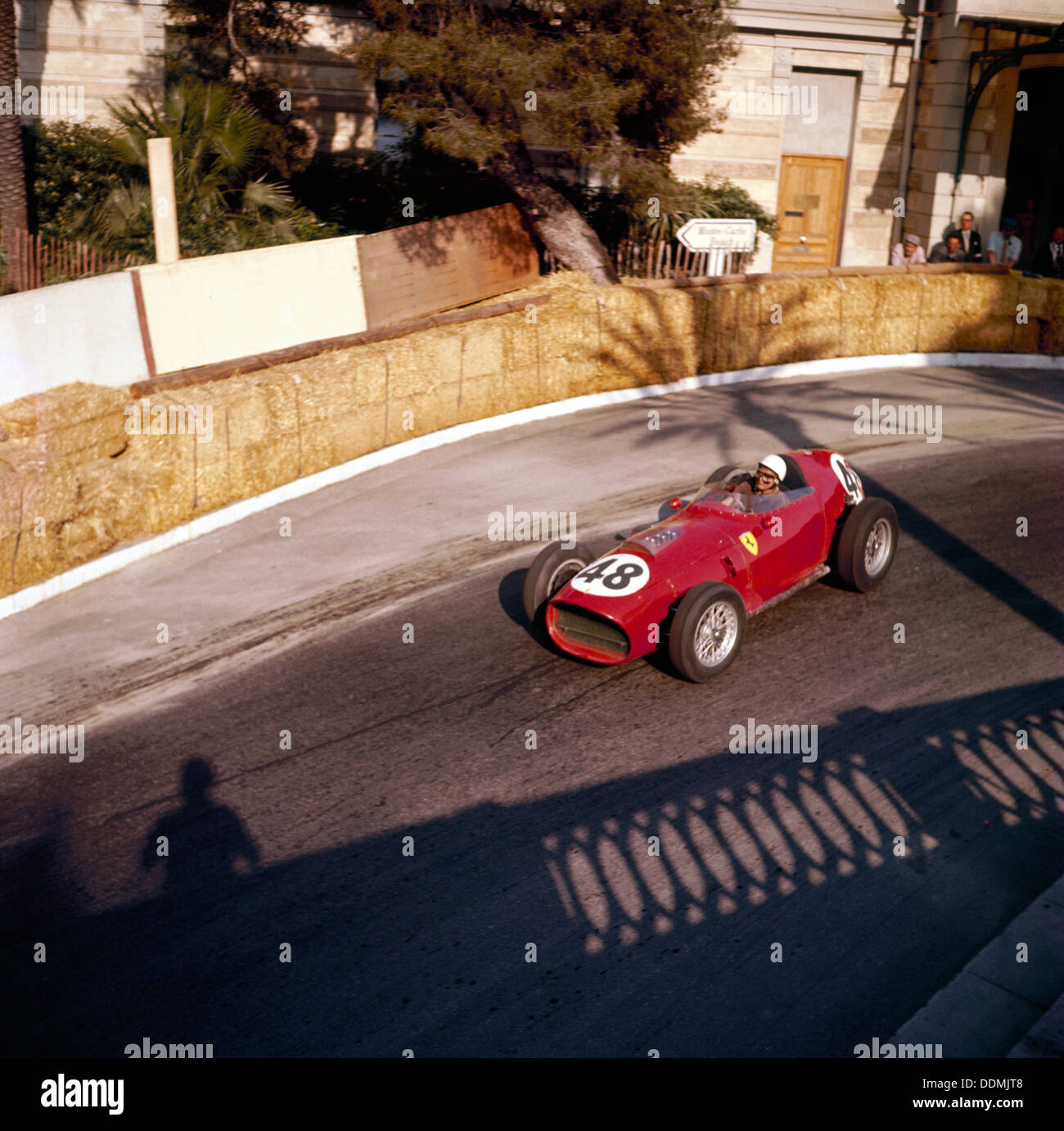 Phill Hill racing a Ferrari D246, Monaco Grand Prix, Monte Carlo, 1959. - Stock Image