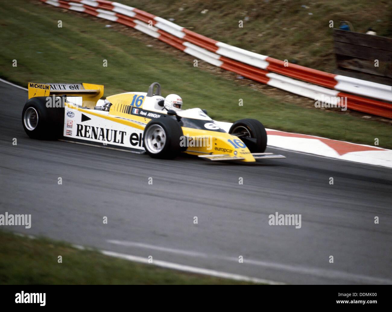 Rene Arnoux racing a Renault RE20, British Grand Prix, Brands Hatch, 1980. - Stock Image