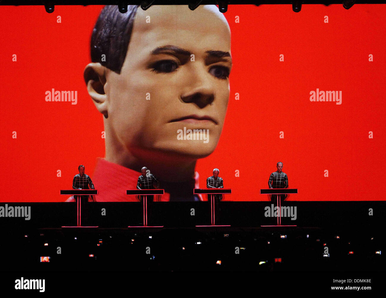 Kraftwerk performs live at the Sonar festival in Barcelona, Spain Stock Photo