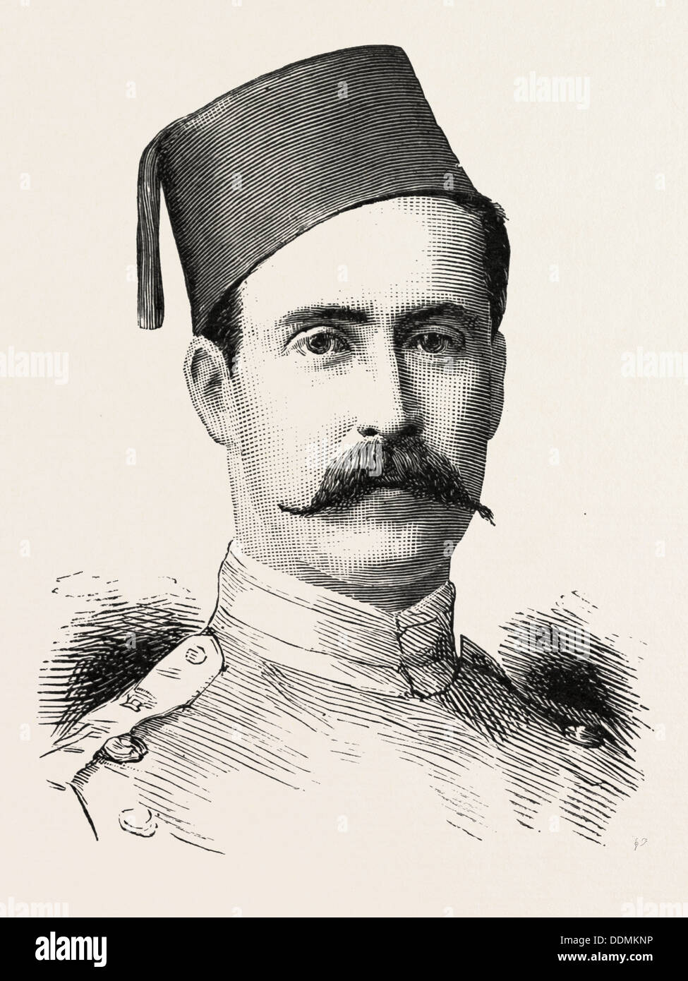 COLONEL V. H. TAPP 3rd Battalion, Egyptian Army, EGYPT, 1888 engraving - Stock Image