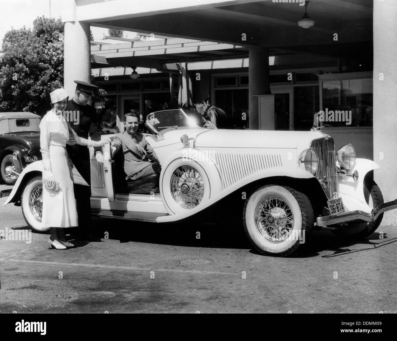 1932 Auburn 12-60 Boattail Speedster, (c1932?). - Stock Image