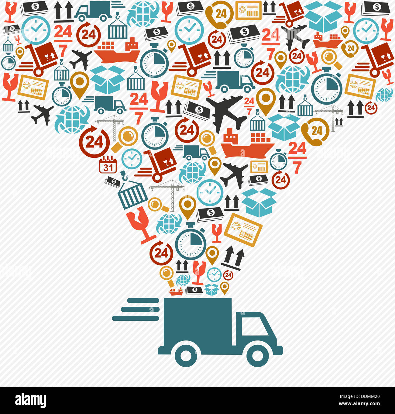 Shipping Delivery: Concept Digital Mobile Logistics Shipping Stock Photos
