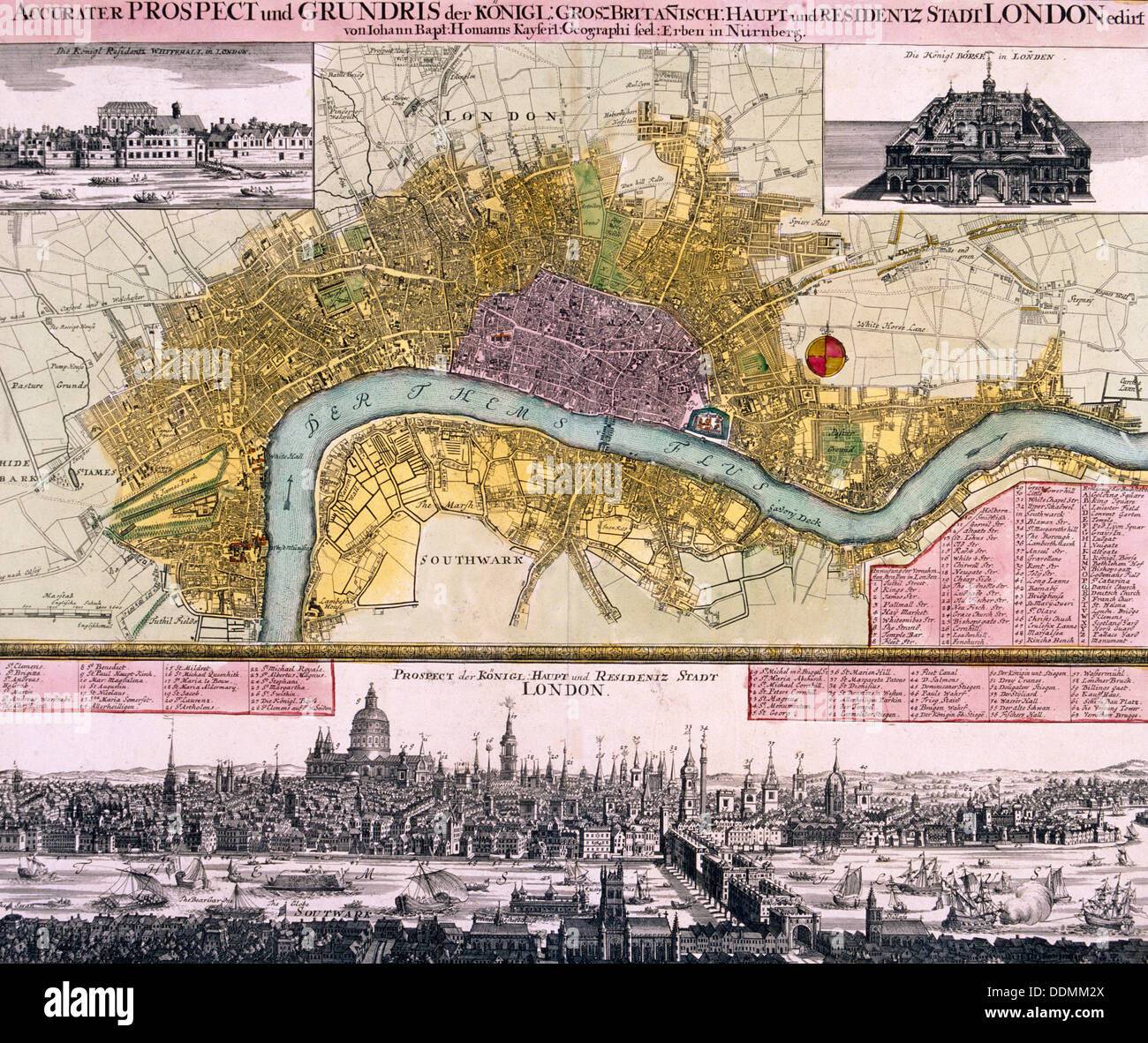Map of the City of London c1710