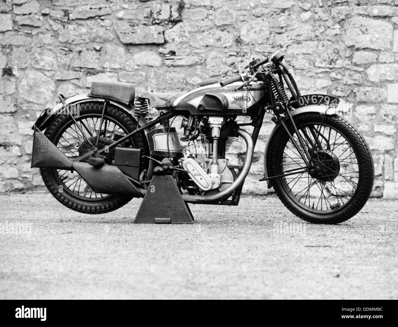 Norton motorbike, an International Model 30, 1932. - Stock Image