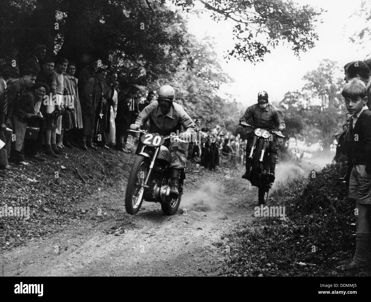 Action from the National (Open) Shrubland Park Scramble, Suffolk, 1952. - Stock Image