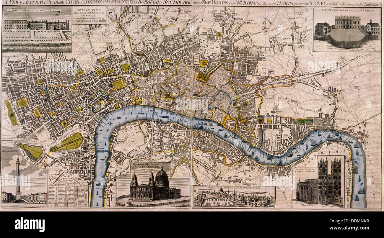 Map of London 1798 Artist Anon